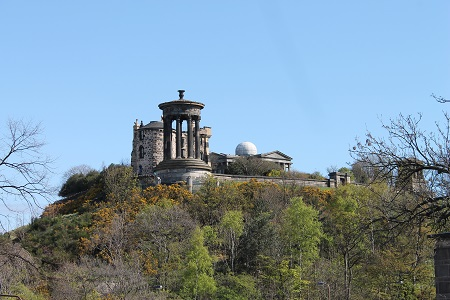 Calton Hill from Old Cemetery
