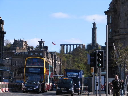 Calton Hill from Princes St